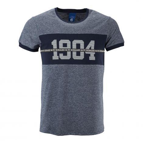 T-Shirt 1904 navy meliert