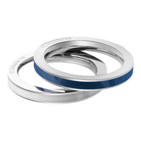 Ring 2er-Set blau und weiß