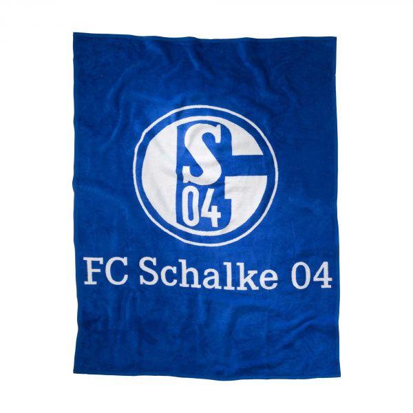 Veloursdecke Logo Schalke 04