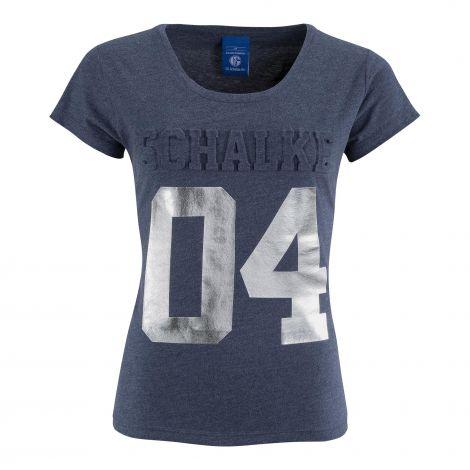 T-Shirt Damen Prägung silber