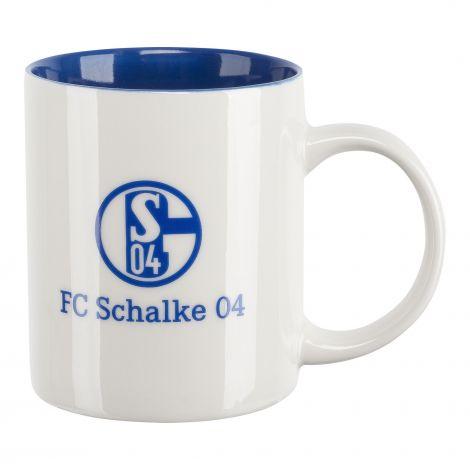 Kaffeebecher weiß blau