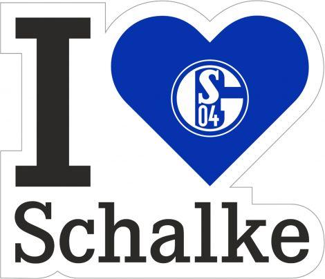 Aufkleber I love Schalke