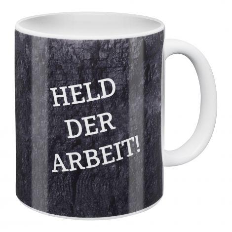 Kaffeebecher Held der Arbeit