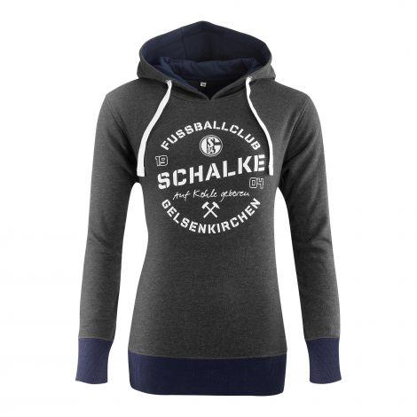 Kapuzen-Sweat Damen Schalke Auf Kohle geboren