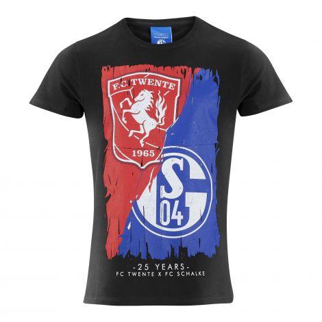 T-Shirt Twente x Schalke schwarz