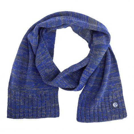 Schal Rippe blau