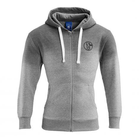 Sweat-Jacke grau Farbverlauf
