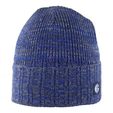 Mütze Rippe blau