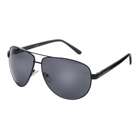 Sonnenbrille Pilot metallic schwarz