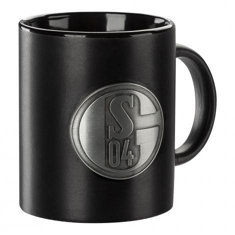 Kaffeebecher schwarz Metall-Emblem