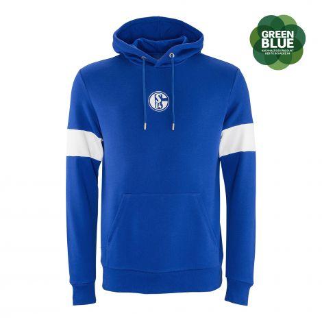 Kapuzen-Sweat Basic blue