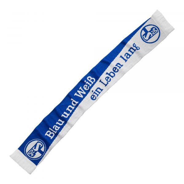 Schal Blau und Weiß