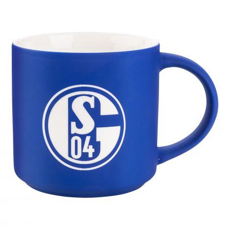 Kaffeebecher königsblau Logo Gravur