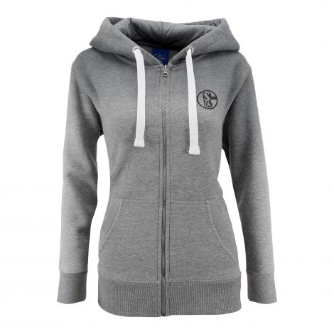 Sweat-Jacke Damen grau Farbverlauf