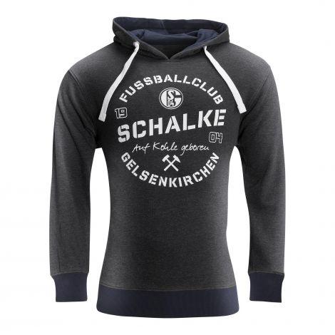 Kapuzen-Sweat Herren Schalke Auf Kohle geboren